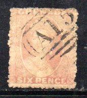 APR1611 - GRENADA , 6 Penny Usato : Non Riesco A Vedere La Filigrana (?) - Grenada (...-1974)