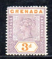 APR1612 - GRENADA 1895, Yvert N. 33  *  Linguella Forte  (2380A) - Grenada (...-1974)