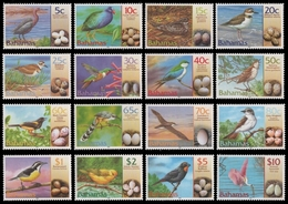 Bahamas 2001 - Mi-Nr. 1073-1088 I ** - MNH - Vögel / Birds - Bahamas (1973-...)