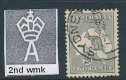 AUSTRALIA, 1915 2d 2nd Wmk Superb Used Fine Centered, SG24, Cat £12++ - Used Stamps