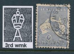 AUSTRALIA, 1915 6d Dull Blue Superb Used Fine Centered, SG38b, Cat £11++ - 1913-48 Kangaroos