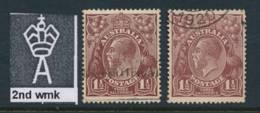 AUSTRALIA, 1918 1½d Deep Red-brown+choclate Superb Fine Centered - 1913-36 George V : Hoofden
