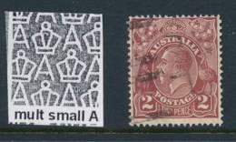AUSTRALIA, 1926 2d Brown P13½x12½ Fine Used, Cat £9.5 - 1913-36 George V : Hoofden