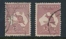 AUSTRALIA, 1931 2/- (both Types) Fine Used - 1913-36 George V : Hoofden