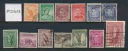 AUSTRALIA, 1937 P13½x14 Set, Also 5/- Fine Used, Cat £44 - 1937-52 George VI