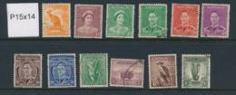 AUSTRALIA, 1937 P15x14 Set, No 1½d Brown Fine Used - 1937-52 George VI