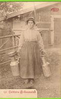 Laitière Ardennaise Avec Porte-seaux Sur épaule Et Bidons - Circulé 1911 - Marco Marcovicini - SUPER - Agriculture