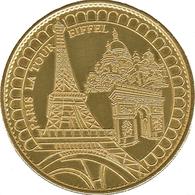 75 PARIS LA TOUR EIFFEL MÉDAILLE SOUVENIR ARTHUS BERTRAND 2007 JETON TOURISTIQUE MEDALS TOKENS COINS - 2007