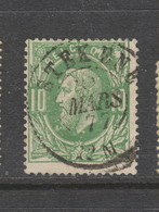 COB 30 Oblitération Centrale Double Cercle STEKENE - 1869-1883 Léopold II
