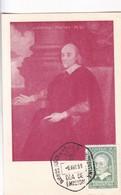 1959 MAXIMUM CARD: WILLIAM HARVEY, DESCUBRIDOR CIRCULACION SANGRE. BUENOS AIRES - BLEUP - FDC