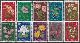 Macau Macao – 1953 Flowers Complete Set - Nuevos