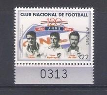 Uruguay (2019) Football: 120th Anniversary Of Club Nacional - Single Stamp (MNH) As Scan - Calcio