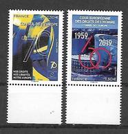 France 2019 -  Yv N° 174 & 175 ** - Timbres De Service - Conseil De L'Europe (droits De L'homme) - Mint/Hinged