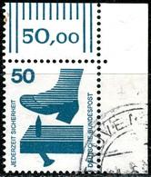 BRD - Mi 700 ECKE REO -  OO Gestempelt (A) - 50Pf Unfallverhütung - [7] República Federal