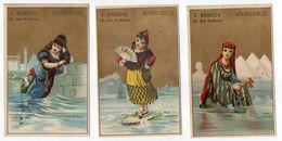 """Chromos - PARIS-- E. RICHEFEU  """"Mercerie """"--figurant Habitantes Mer Rouge,Méditerranée,Adriatique--......à Saisir - Autres"""