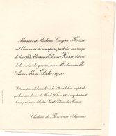 Mariage 1921 Anne MArie Delavigne & Olivier Hesse Rouen Château De Flixecourt - Mariage