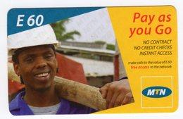 SWAZILAND PREPAYEE MTN  E60 MINT NON GRATTE - Swaziland
