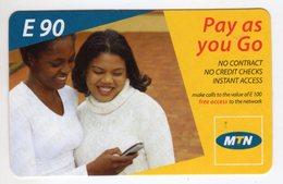 SWAZILAND PREPAYEE MTN  E90 MINT NON GRATTE - Swaziland
