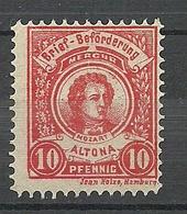 GERMANY Ca 1880 Privater Stadtpost HAMBURG Altona Local City Post Private Post 10 Pf. Mozart - Privatpost