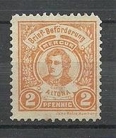 GERMANY Ca 1880 Privater Stadtpost HAMBURG Altona Local City Post Private Post 2 Pf. Goethe - Privatpost