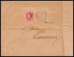 Lettre-1045 Bouches Du Rhone Napolléon N°32 Gc 602 GRANDE LETTRE Barbentane Pour Tarascon 1873 - 1849-1876: Classic Period