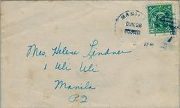 1934 FILIPINAS / PHILIPPINES , MANILA INTERIOR , SOBRE CIRCULADO - Filipinas