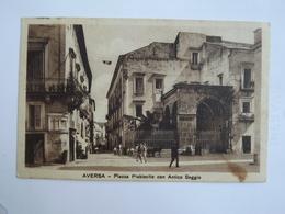 Q108  CARTOLINA AVERSA CASERTA  VIAGGIATA 1937 - Caserta