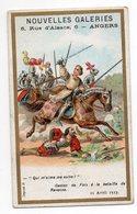"""Chromo - ANGERS-- """"Nouvelles Galeries """"--histoire--Gaston De Foix à La Bataille De Ravenne......à Saisir - Autres"""