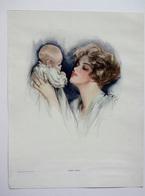 AFFICHE MATERNITE...BABY MINE.....1915.....ILLUSTRATEUR FISHER HARRISSON....COPYRIGHT NASH'S MAGAZINE 1917 - Old Paper
