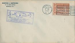 1934 FILIPINAS / PHILIPPINES , SOBRE CONMEMORATIVO , BASEBALL , TENTH FAR EASTERN CHAMPIONSHIP GAMES - Filipinas