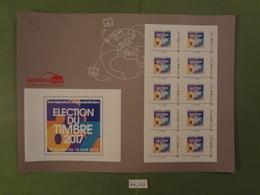 "2018 EMISSION DU CARRE D'ENCRE "" ELECTION DU TIMBRE 2017 "" Lettre Prioritaire 20g ADHESIF COLLECTOR 10 TIMBRES - Frankrijk"