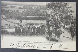 CPA 29 LOCRONAN - Grande Troménie - Procession Dans Les Blés - Les Tambours -Villard 1382 Précurseur - Réf. X 145 - Locronan
