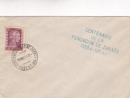 1954 SPECIAL COVER, CENTENARIO CIUDAD DE ZARATE, ARGENTINE  - BLEUP - Argentine