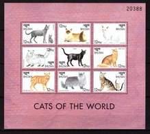 Bhutan, 1999. [bhu9922] Cats - Hauskatzen