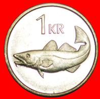 + GREAT BRITAIN FISH (1989-2011): ICELAND ★ 1 KRONE 1994 MINT LUSTER! LOW START ★ NO RESERVE! - Iceland