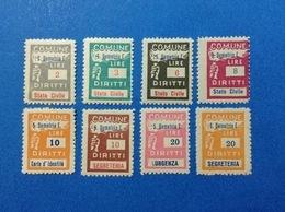 ITALIA LOTTO 8 MARCHE DA BOLLO NUOVE MNH** COMUNALI MUNICIPALI LOCAL MUNICIPAL STEMPELMARKE FISCAUX REVENUE - 6. 1946-.. Republic