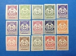ITALIA LOTTO 15 MARCHE DA BOLLO NUOVE MNH** IGIENE E PROFILASSI LOCAL MUNICIPAL STEMPELMARKE FISCAUX REVENUE - 6. 1946-.. Republic