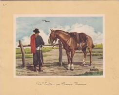 1956 FDC CARD ARGENTINE- DE VUELTA. ELEODORO MARENCO  - BLEUP - Arte