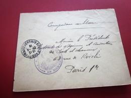 WW1-Lettre S.M-  Régiment D'Infanterie Cachet Militaire & C.à Date BORDEAUX Gironde Guerre 1914-18 Marcophilie MILIARIA - Marcophilie (Lettres)