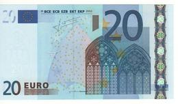 """20 EURO  """"M""""   PORTUGAL   Firma Trichet   U 019 B3   /  FDS - UNC - EURO"""