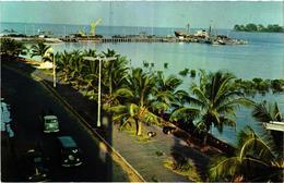 Guinee Portugaise - Portuguese Guinea - Guine Bissau - Ponte Cais Harbor - VW VAN Combi Car Voiture - Old Postcard - Guinea-Bissau