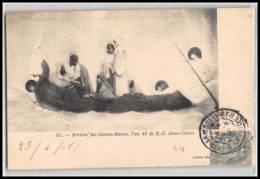 Lettre-2669 Bouches Du Rhone N°111 Blanc Saintes Maries De La Mer Carte Postale Arrivée L'an 45 1905 - Storia Postale
