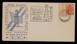 Argentina San Lorenzo Oil Oro Negro Pétroleum 1954 Pétrole Sciences Energies Portugal Document Postal Sp5924 - Pétrole