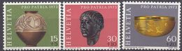 HELVETIA - SUISSE - SVIZZERA - 1973 - Lotto Di 3 Valori Nuovi MNH: Yvert 926, 927 E 929; Pro Patria. - Nuovi
