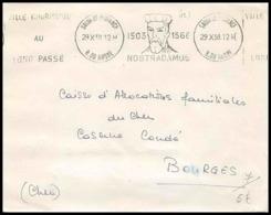 Lettre-3055 Bouches Du Rhone Krag Nostradamus Salon De Provence Pour Bourges 29/10/1958 - 1921-1960: Periodo Moderno