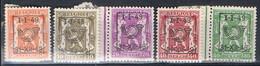 589/93  XX  MNH  POSTGAAF - Typo Precancels 1951-80 (Figure On Lion)