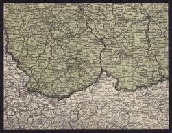 POLAND UKRAINE - MAP -  Lods Radom Lublin Lwow Przemysl FOLDED OLD POSTCARD (see Sales Conditions) - Poland