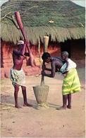 Guinee Portugaise - Portuguese Guinea - Guine Bissau - Pilando Arroz Native Black Nude Girls - Seins Nus  - Old Postcard - Guinea-Bissau