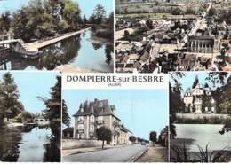 03 - DOMPIERRE Sur BESBRE : Jolie Multivues CPSM Dentelée Colorisée Grand Format 1965 - Allier - France