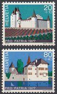 HELVETIA - SUISSE - SVIZZERA - 1977 - Lotto Di 2 Valori Nuovi MNH: Yvert 1026 E 1029; Pro Patria. - Nuovi